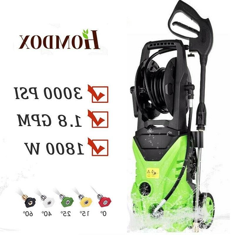 HOMDOX 3000PSI 1.8GPM Electric Pressure Washer Powerful Wate