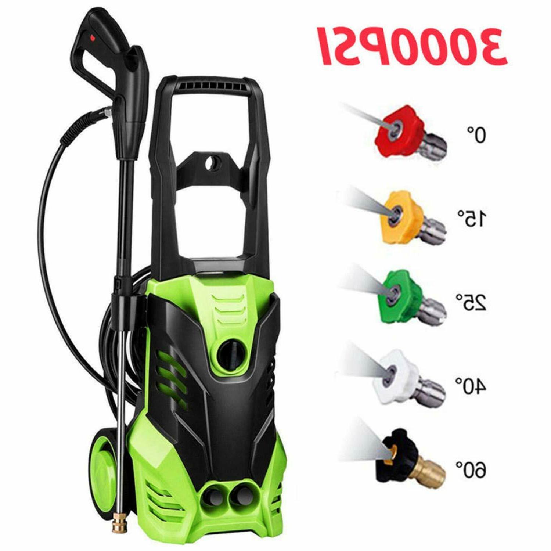 3000psi electric pressure power washer hose detergent