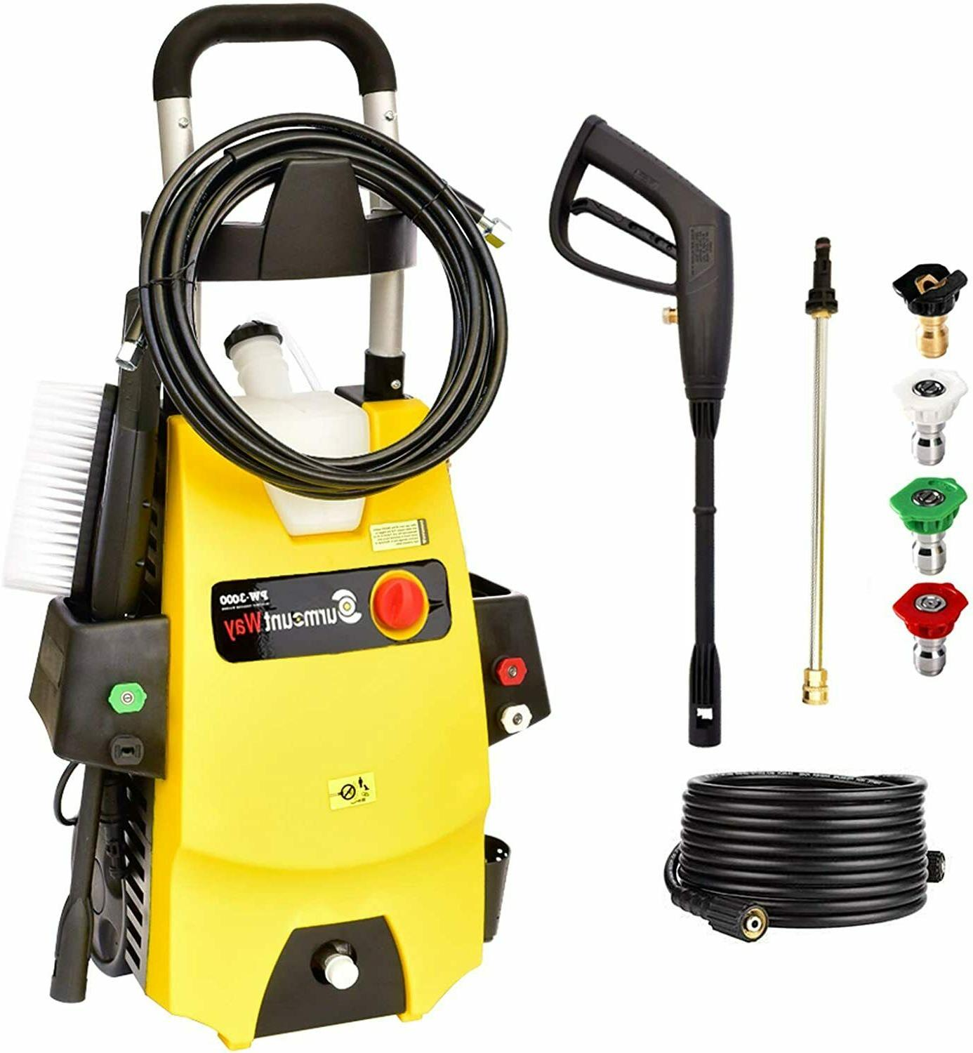 SurmountWay Pressure Washer, 1.6GPM Washer