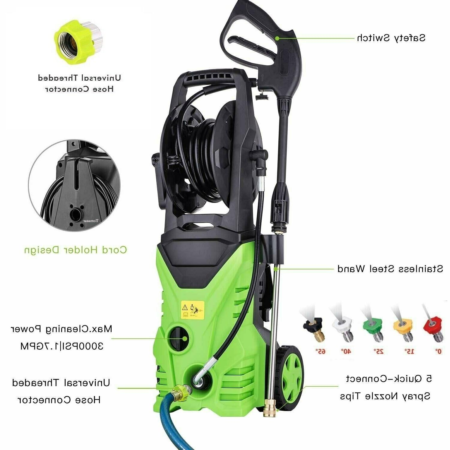 3000psi electric pressure washer 1800w power washer