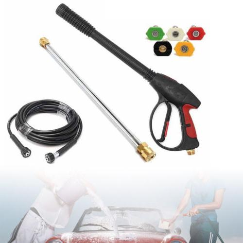 NEW High Car Power Washer Spray Gun Wand Hose
