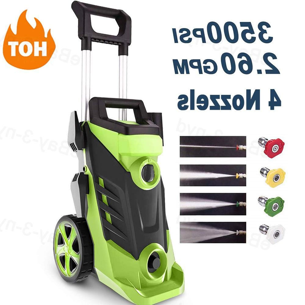 3500psi 2 6gpm electric pressure washer power