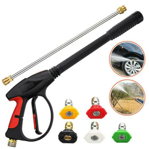 4000PSI High Pressure Car Power Washer Spray Wand Lance Nozzle Hose