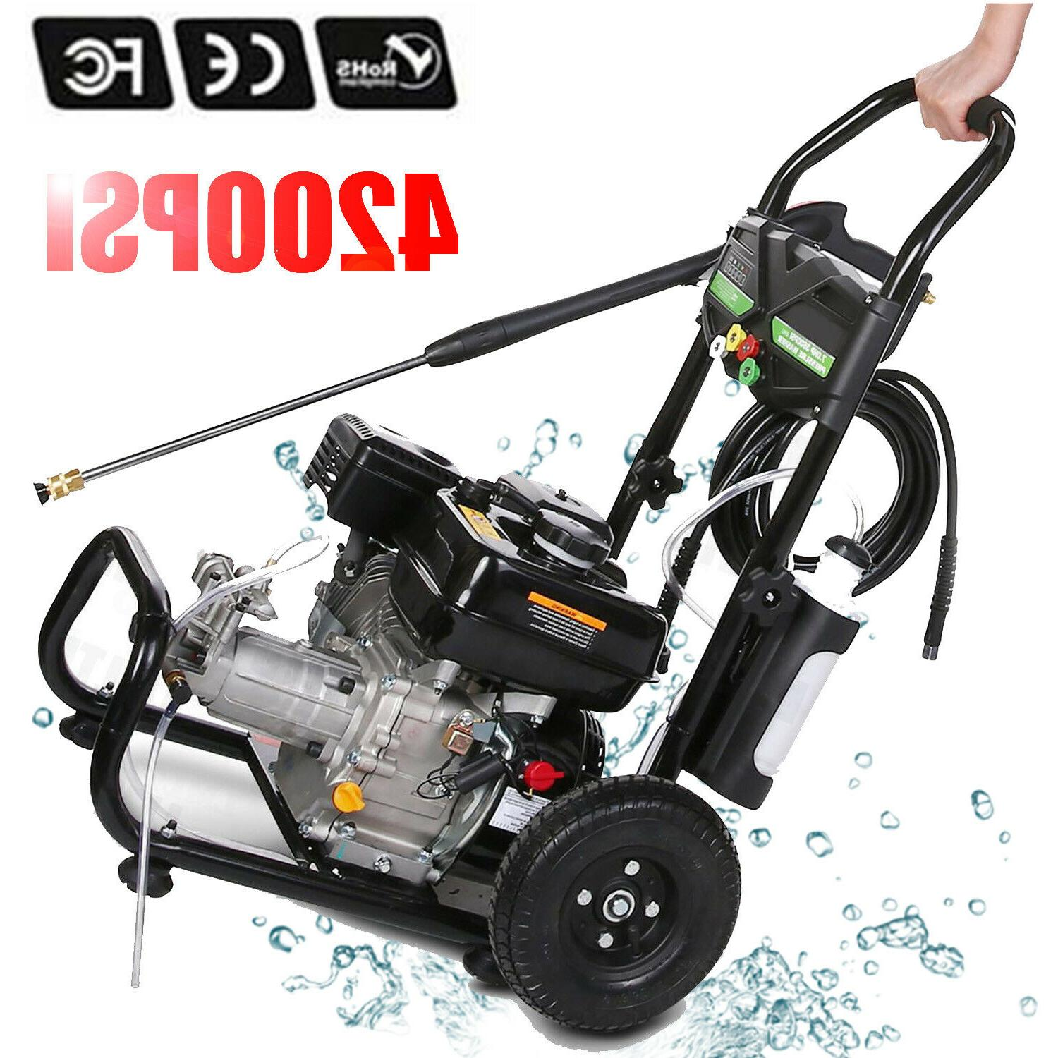 4200PSI 3GPM Gas Pressure Washer Petrol Powered US