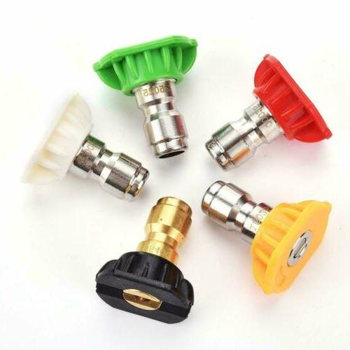 5 PCS High Washer Spray Nozzle 5 Quick 1/4""