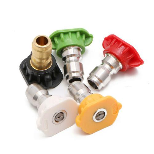 5Pc Parts Nozzles Tips Variety Degrees Quick
