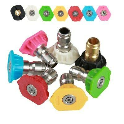 7pcs 5000psi power pressure washer spray nozzle