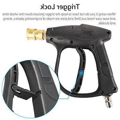 High Pressure Gun Water Spray Wand Brass 3000 PSI Car Clean