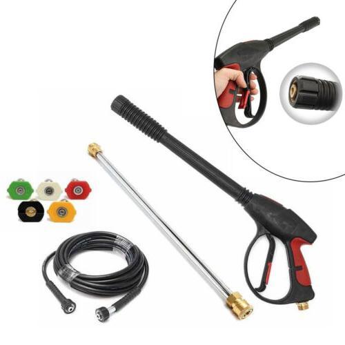 NEW 3000PSI Pressure Car Power KIT Set Hose + Spray Gun +TIPS