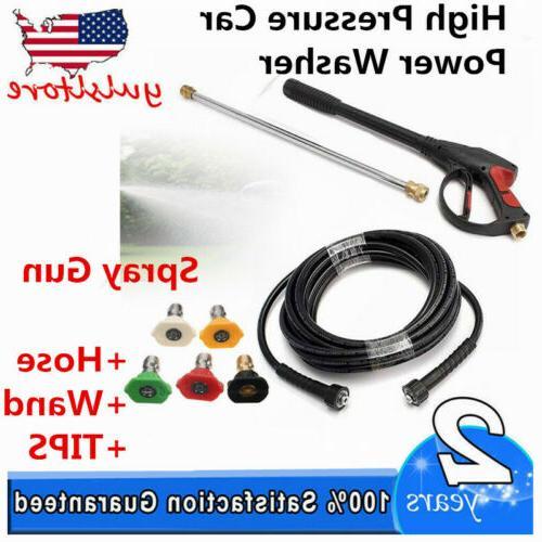 NEW 3000PSI High Pressure Car Power Washer KIT Set Hose + Sp