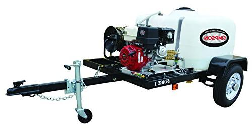 Simpson Gas Pressure Washer 4 200 psi 4.0 GPM Trailer System