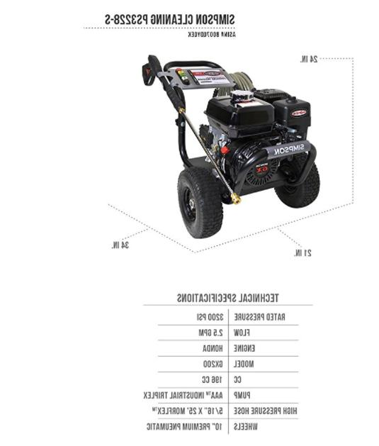 SIMPSON Cleaning Gas Pressure Washer HONDA