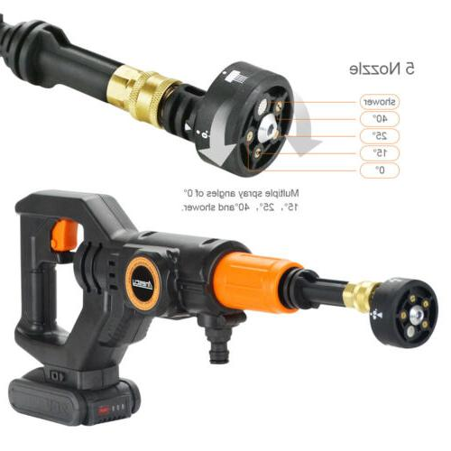 Cordless Pressure Washer Power Cleaner 2.0A Battery & Charger
