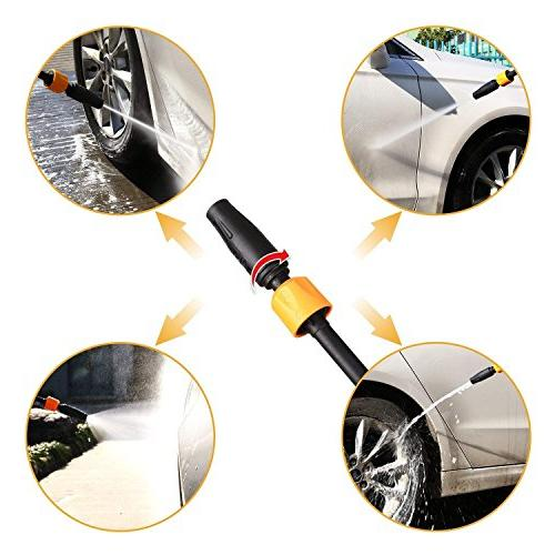 DEKOPRO GPM Electric Pressure Pressure Cleaner with Turbo Nozzle,1800W Rolling with Temperature Sensor