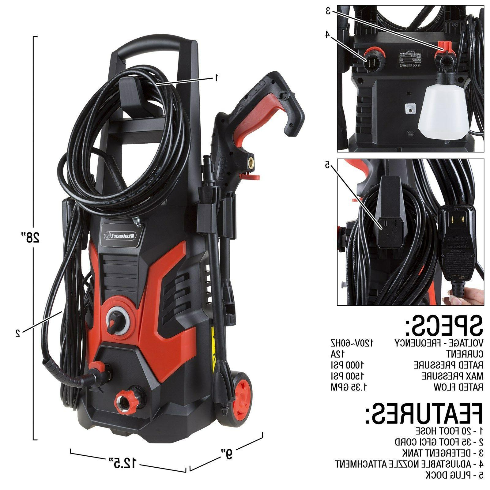 Stalwart Electric Cleaner Power 1500 PSI Patio