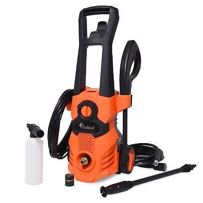 Ivation 1520 PSI 1.32 13 Amp, Hose Nozzle & Soap Cannon,Orange,Small Model