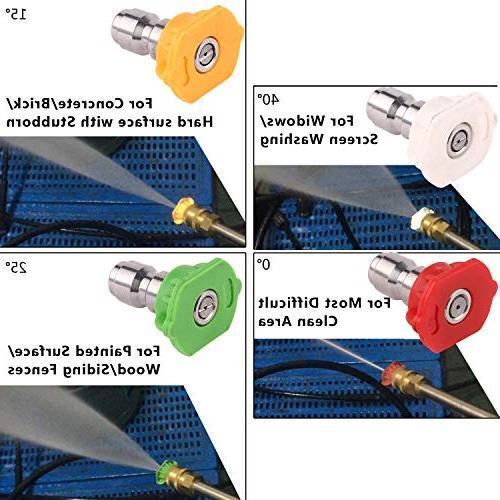 Homdox Washer PSI Pressure 1.6 Gun and Spray Gun for Garden,