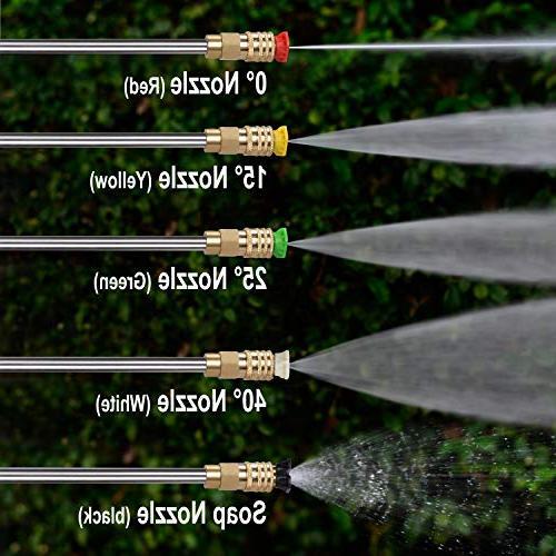 PowRyte Elite Washer, Quick-Connect Spray Tips