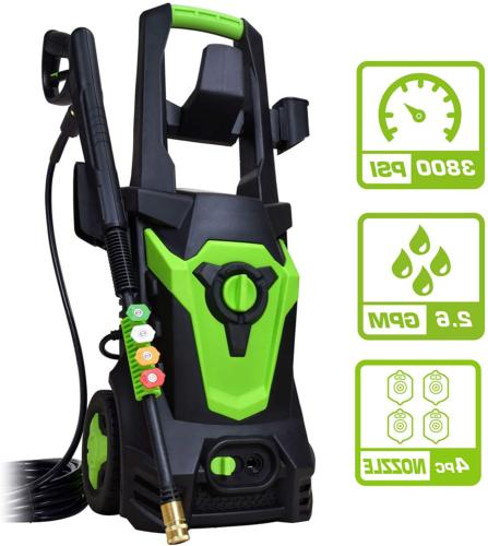PowRyte Elite 3800PSI 2.6GPM Electric Pressure Washer, Elect