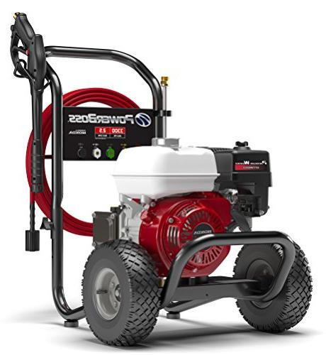 PowerBoss Washer 3300 PSI with Hose, Nozzles Detergent Injection