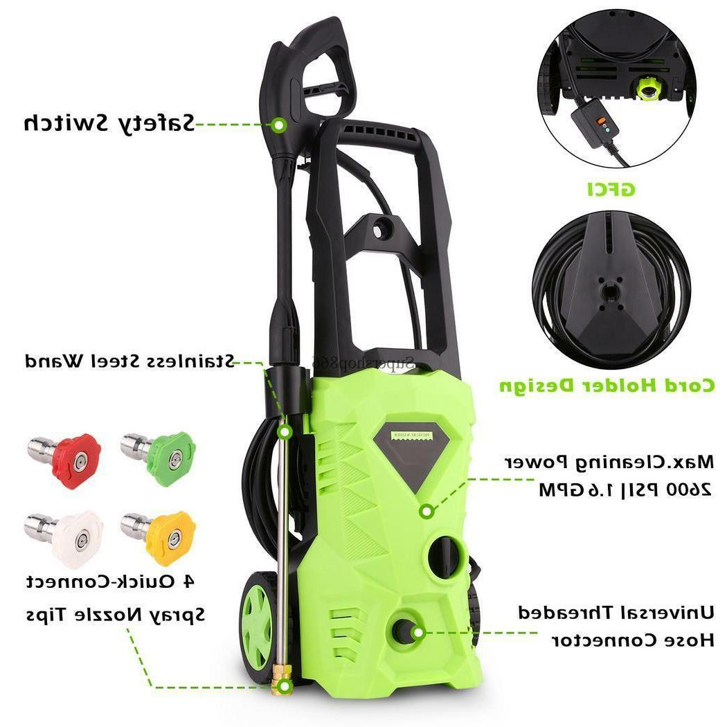 greenworks 2600psi electric pressure washer car wash