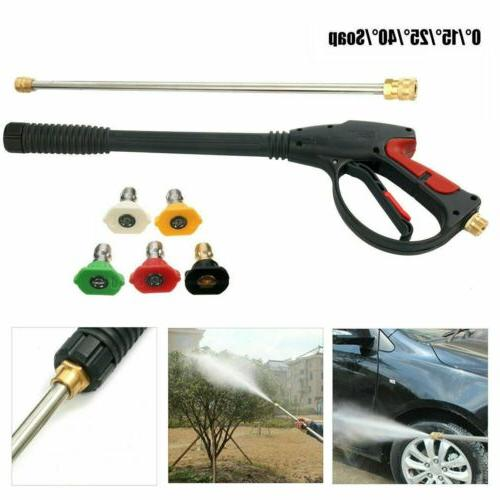 4000PSI High Pressure Car Power Washer Spray Gun Wand Lance