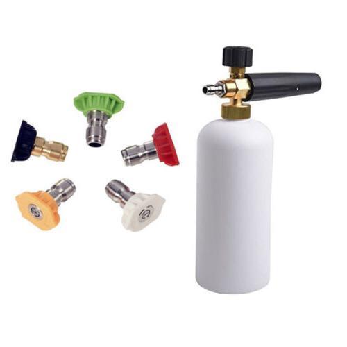 High Pressure Power Washer Spray Lance Nozzle Snow Foam Bottle