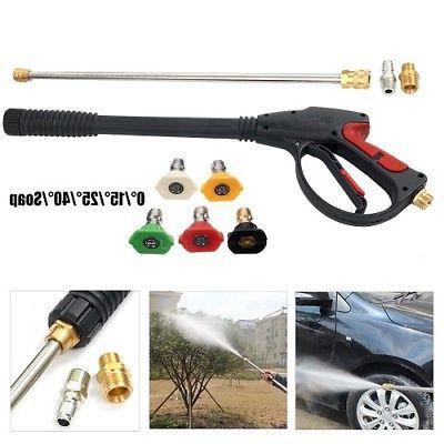 high pressure power washer spray gun wand