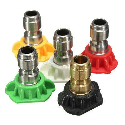 High Pressure Gun Adapter Water +5PCS Nozzle Tip 3/8''