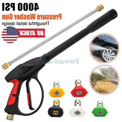 High Washer Spray Gun 4000PSI Car Wand/Lance Set