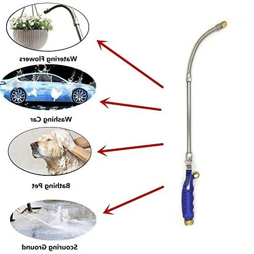 Buyplus Jet Pressure Power Wand Upgrade Garden Hose Watering Jet for and Flexible Glass Tips