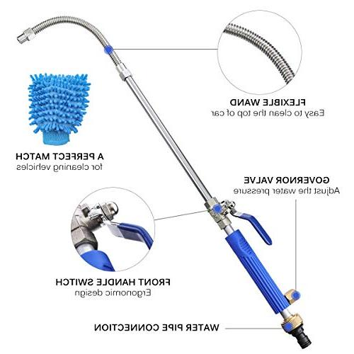 CAVEEN Jet Magic High Wand Extendable High Pressure Nozzle, Flexible Hose Sprayer for Car and Window