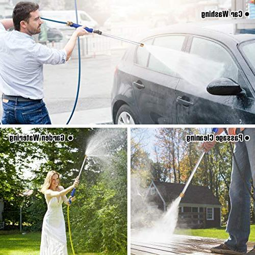 CAVEEN Jet Car Washer Magic Wand Extendable Power High Pressure Nozzle, Garden Sprayer for and Window
