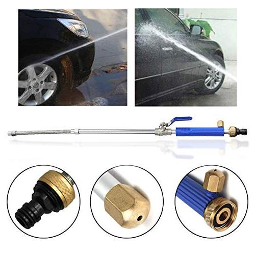 Magic Wand Extendable Power High Pressure Hose Nozzle, Hose Sprayer for and