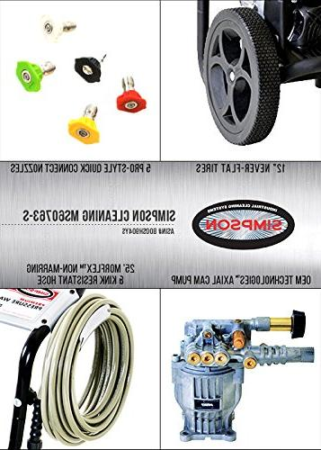 Simpson MegaShot Gas Pressure Washer, PSI GPM, Kohler RH265 OHV, Pump