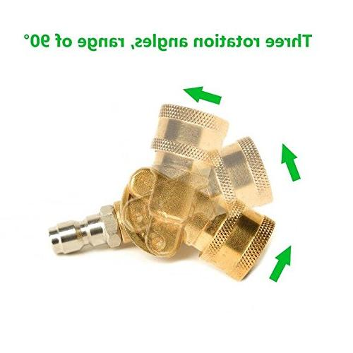 Pressure 7 Power Disconnect Spray Quick Adapter Coupler, Jet 2.5 GPM, 9-Pack - FREE