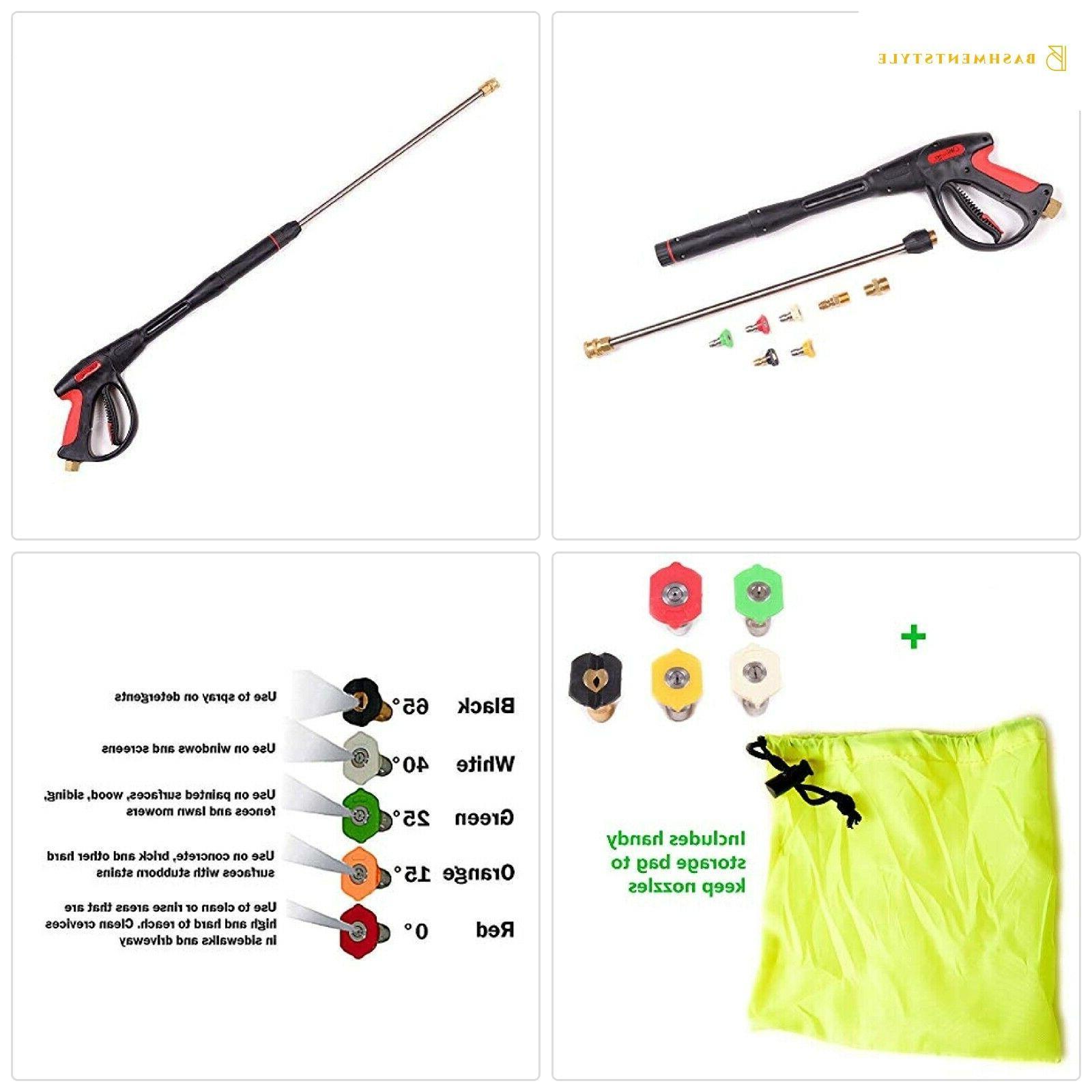 pressure washer gun accessories kit 4000 psi