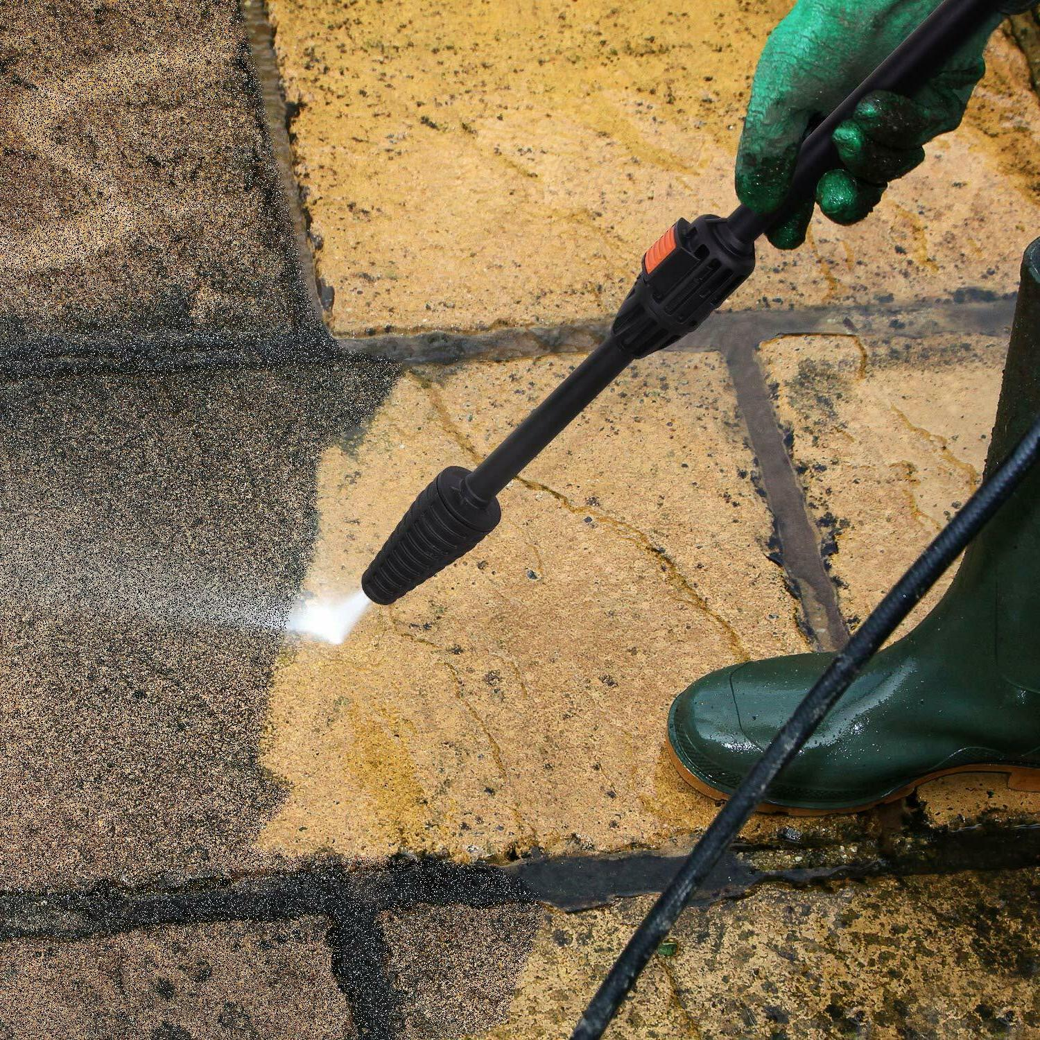 Pressure Washer, Efficiency 1600 PSI 1400W Electric Power