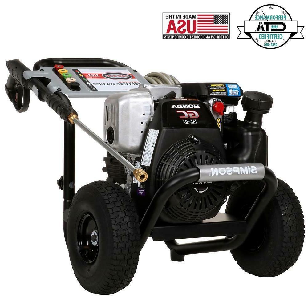 pressure washer powered by honda 3 200