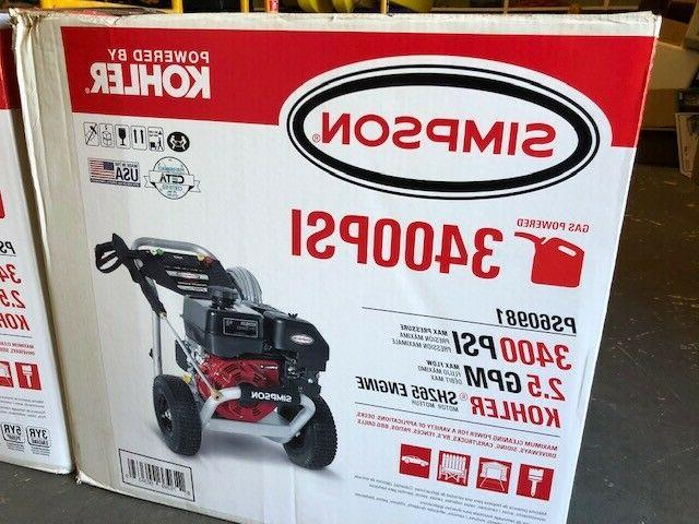 ps60981 3400psi gas powered pressure washer new
