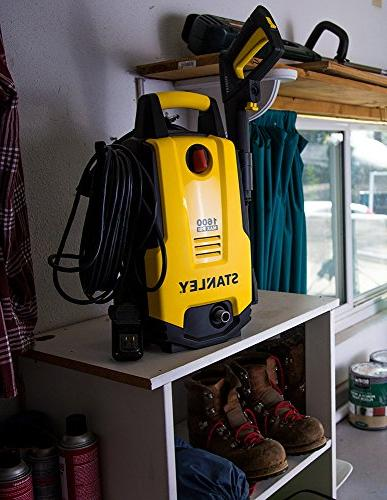 Stanley Electric Power Washer, 1600 PSI, Yellow