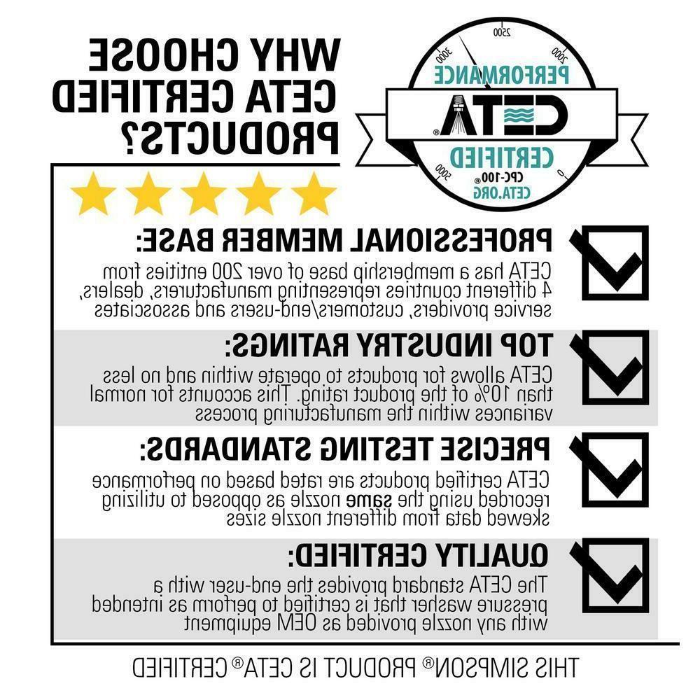 SIMPSON PS4240 4200 PSI at 4.0 HONDA GX390