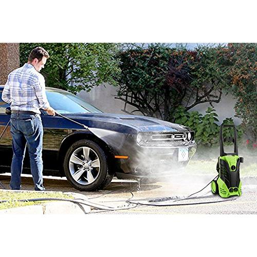 Meditool MT3 Electric Pressure Washer, 1.8 Washer, Power with Adjustable Onboard Detergent 2 Rolling Wheels,