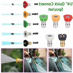 Power Pressure Washer Spray Nozzle 5 pcs Tip Set Variety Deg