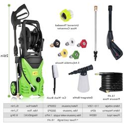 Premium 3000Psi 1.7 Gpm Electric Pressure Power Washer w/ Ho