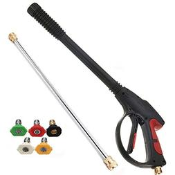 MATCC Pressure Washer Gun 4000 PSI Spray Gun With19'' Extens