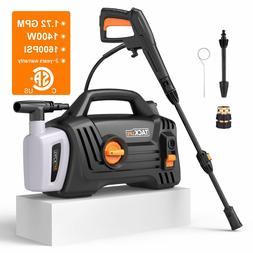 Pressure Washer, High Efficiency 1600 PSI 1.72 GPM 1400W Ele