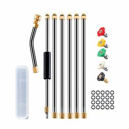 Pressure Washer Wand Extension Set,8.1ft 4000 PSI Power Wash