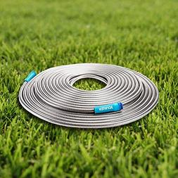 Stainless Steel Water Hose 100ft Spiral Constructed Metal Ga