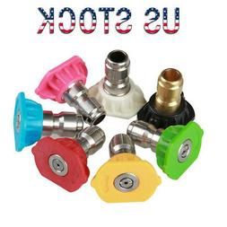 Power Pressure Washer 5000PSI Accessories Nozzle Tips Pivoti